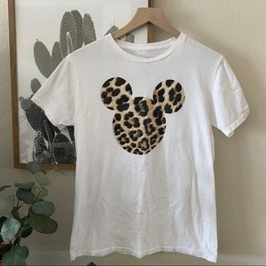Disney Leopard Mickey Shirt